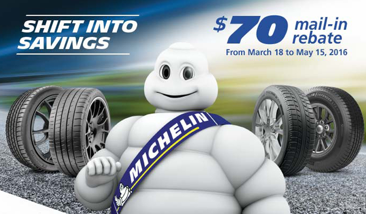 Michelin Spring 2016 Promotion | Tirehaus | New and Used Tires and ...
