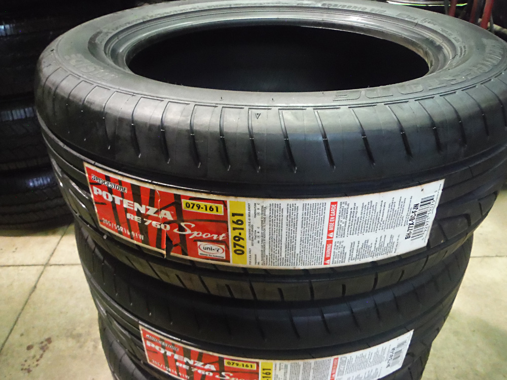 Bridgestone 205/55R16 tires