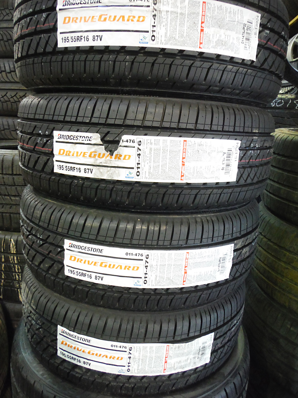 Bridgestone Driveguard 195/55R16 Tires for sale