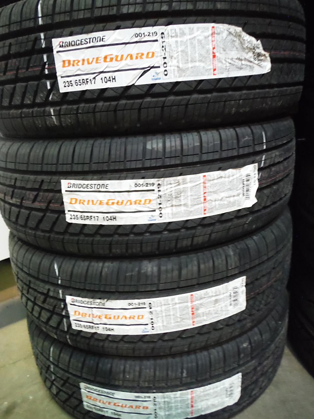 Bridgestone Driveguard 235/65R17 Tires for sale