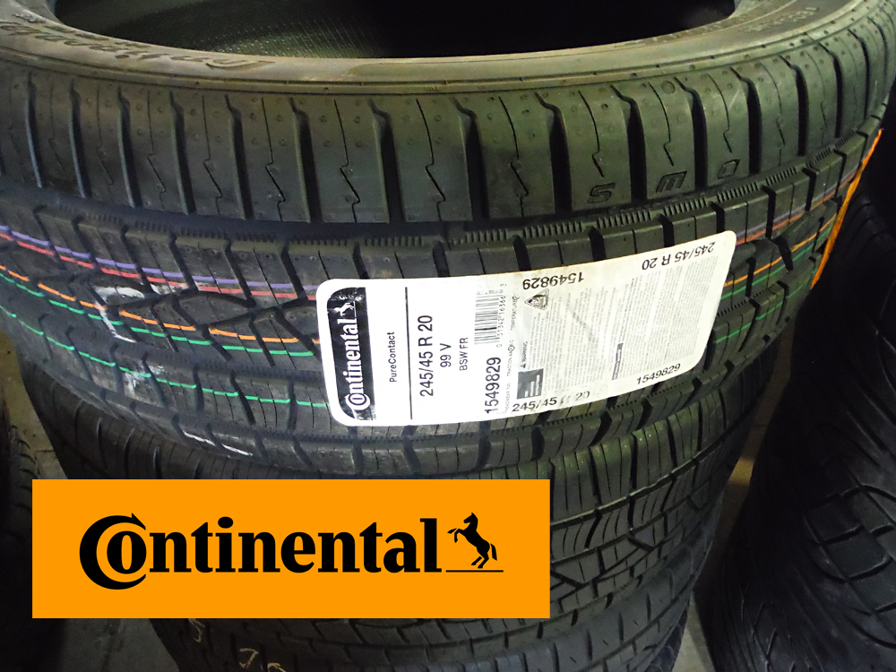 Continental tires for sale 245-45R20