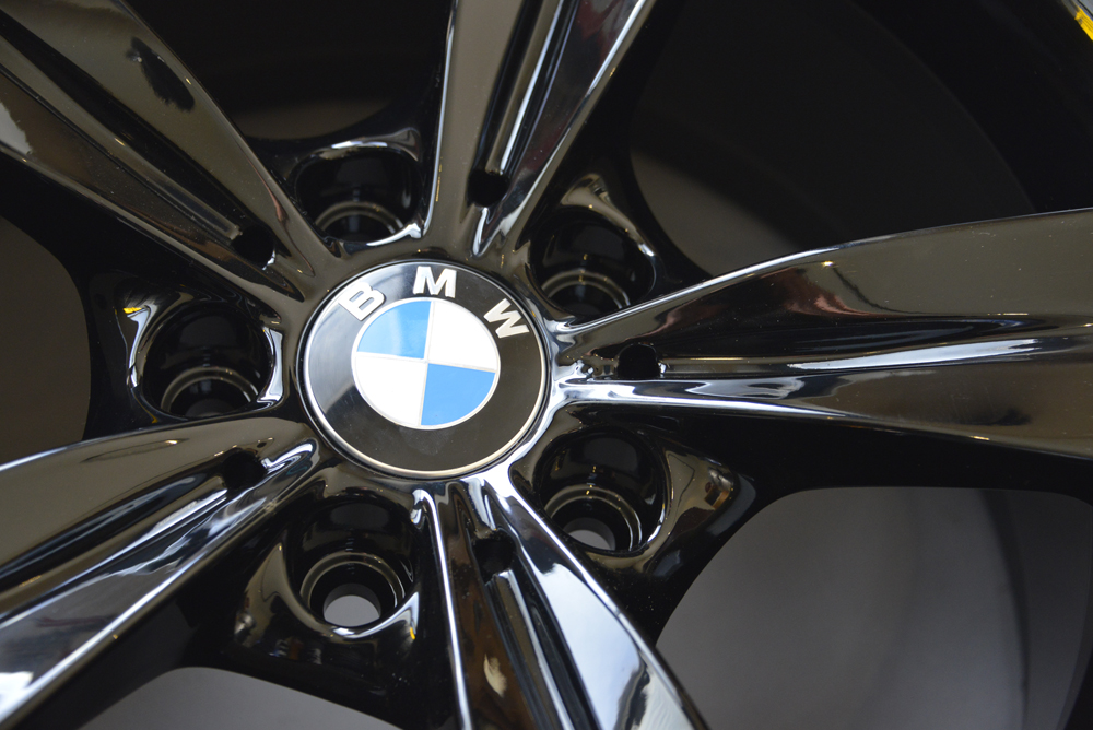 BMW rims powder coated