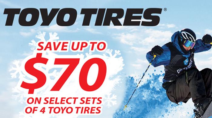 $70 off Toyo Tires