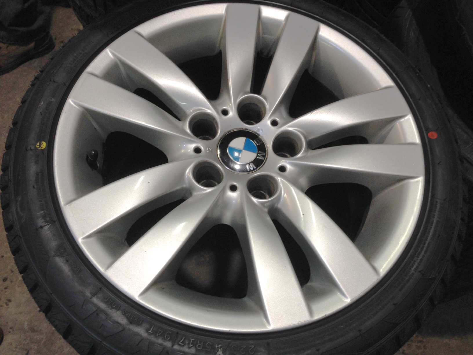 bmw winter rims and tires for sale