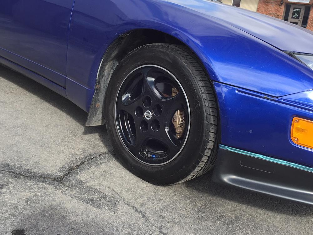 Nissan 300zx Gloss Black Rim Refinishing Tirehaus New And Used