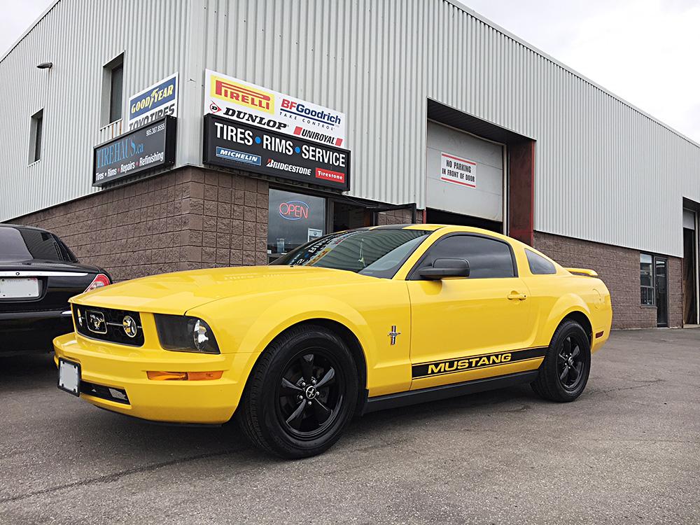 rim powder coating in Hamilton - Ford Mustang gloss black